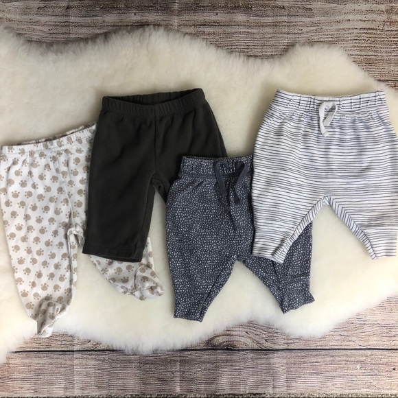 55d175cb2 Carter's Bottoms | Lot 4 3 M Unisex Baby Pants Carters Jumping Beans ...